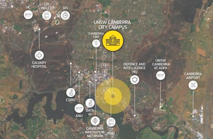Canberra city campus map